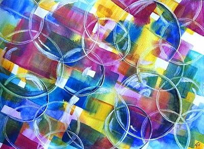 Painting - Bubble Fun by Kim Shuckhart Gunns