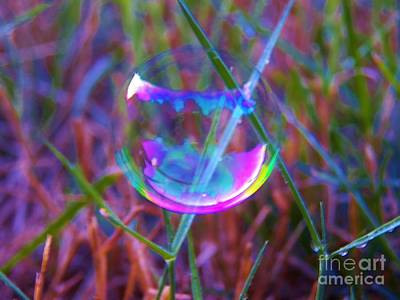 Photograph - Bubble Illusions 3 by Judy Via-Wolff
