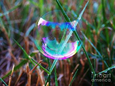Photograph - Bubble Illusions 4 by Judy Via-Wolff