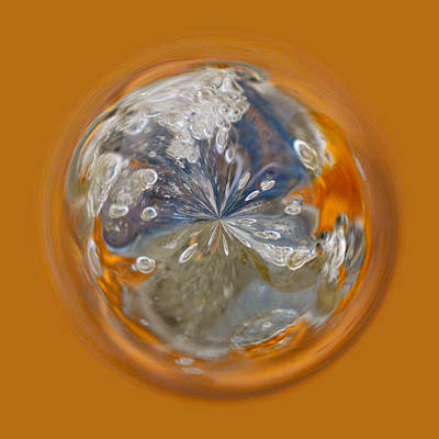 Photograph - Bubble Out Of Orange Orb by Brent Dolliver
