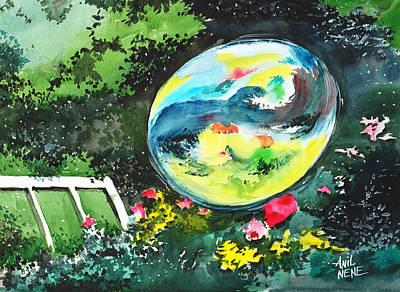 Bubble Reflections Print by Anil Nene