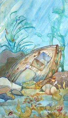 Bubble Ship Wreck Art Print by Maya Simonson