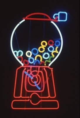 Bubblegum Machine Print by Pacifico Palumbo