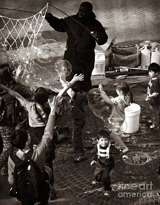 Photograph - Bubbles And Kids - Central Park Sunday by Miriam Danar