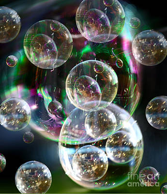 Digital Art - Bubbles And More Bubbles by Nareeta Martin
