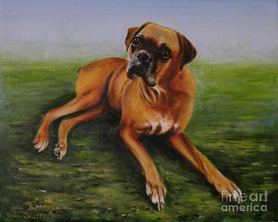 Painting - Bubbles  Boxer by Tony Calleja