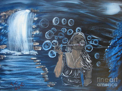 Carter.oil Painting - Bubbles by Caleb Shepard