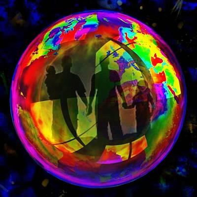 Pop Art Photograph - Bubbles IIi by Barbs Popart
