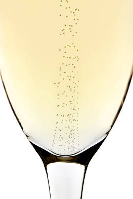 Champagne Glasses Photograph - Bubbles In Champagne by Johan Swanepoel