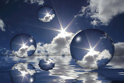 Reflection Photograph - Bubbles In The Sun by Shane Bechler