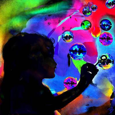 Pop Art Photograph - Bubbles Iv by Barbs Popart