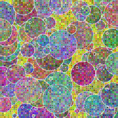Bubbles Mosaic Art Print by Gaspar Avila