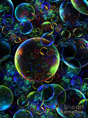 Bubbles Orgy 2 Art Print