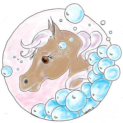 Bubbles Profile Art Print by Vonda Lawson-Rosa