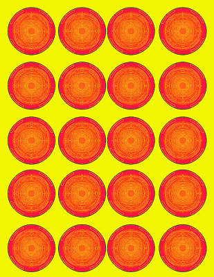 Bubbles Sunny Oranges Warhol  By Robert R Art Print