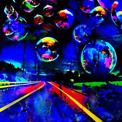 Pop Art Photograph - Bubbles V by Barbs Popart