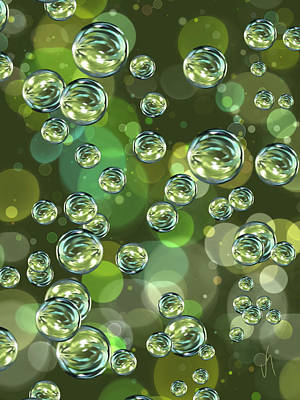 Abstract Digital Digital Art - Bubbles by Veronica Minozzi