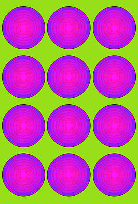Blueberry Mixed Media - Bubbles Lime Purple Poster by Robert R Splashy Art Abstract Paintings