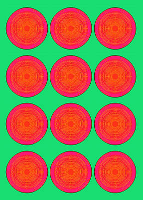 Bubbles Watermelon Warhol  By Robert R Art Print by Robert R Splashy Art Abstract Paintings