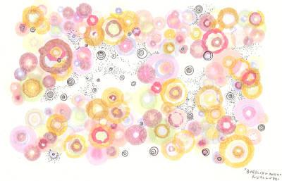 Drawing - Bubbling Away by Regina Valluzzi