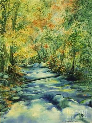 Painting - Bubbling Brook by Madeleine Holzberg