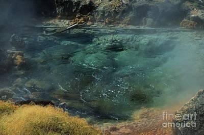 Bubbling Hot Springs Art Print by Kathleen Struckle