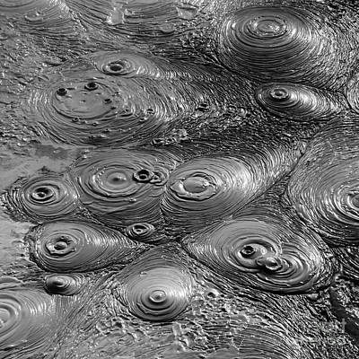 Mudpot Photograph - Bubbling Mud Patterns 1 by James Brunker
