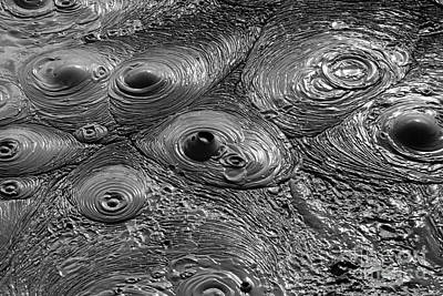 Mudpot Photograph - Bubbling Mud Patterns 2 by James Brunker