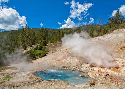 Photograph - Bubbling Pools Of Yellowstone by John M Bailey