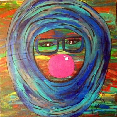Hijab Painting - Bubbly by LaRita Dixon