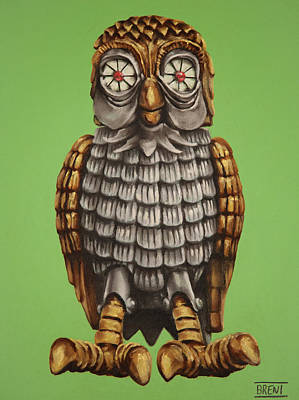 Pastel - Bubo by Brent Andrew Doty