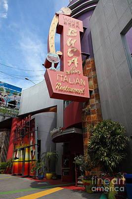 Buca Italian Restaurant Universal Studios City Walk Hollywood In Los Angeles California 5d28413 Art Print by Wingsdomain Art and Photography