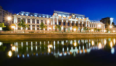Bucharest At Night Art Print by Ioan Panaite