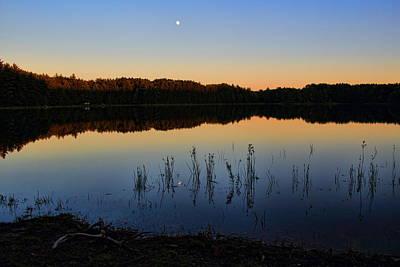 Rhinelander Photograph - Buck Lake Moonrise by Dale Kauzlaric
