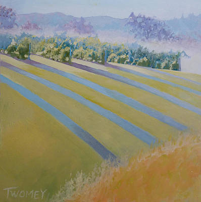 Blue Ridge Painting - Buck Mountain Vineyards No.2 by Catherine Twomey