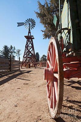 Photograph - Buckboard And Windmill In Littleton Historic Museum by Fred Stearns