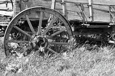 Buckboard Wagon Wheel  Art Print by Juls Adams