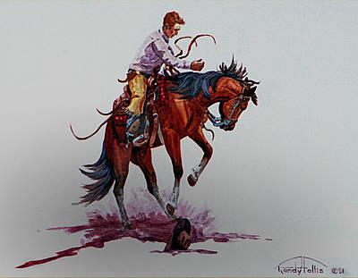 Mexican Cowboy Painting - Bucker by Randy Follis