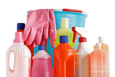 Bucket And Detergents Art Print by Antonio Scarpi
