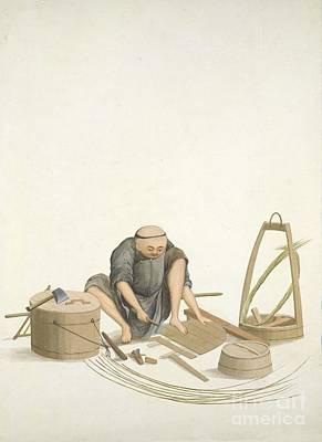 Bucket-maker, 19th-century China Art Print by British Library