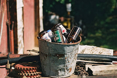 Photograph - Bucket Of Beers by Roxy Hurtubise