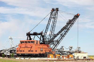 Oil Industry Photograph - Bucket Wheel By Syncrude Upgrader Plant by Ashley Cooper