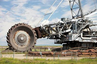 Oil Industry Photograph - Bucket Wheel Syncrude Upgrader Plant by Ashley Cooper