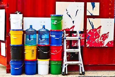 Buckets Of Color Art Print by Karol Livote