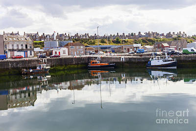 Buckie Harbour Art Print