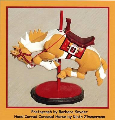 Western Art Digital Art - Bucking Bronco Carousel Horse by Barbara Snyder and Keith Zimmerman