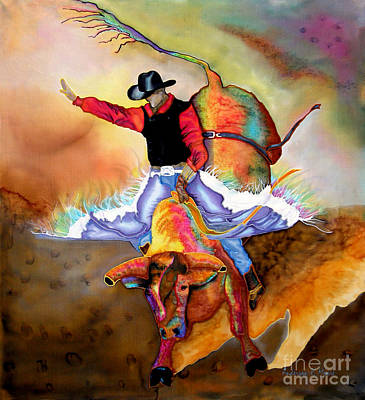 Painting - Bucking Bull by Anderson R Moore
