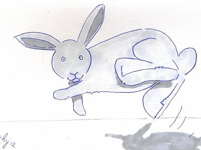 Animation Drawing - Bucking Bunny Rabbit Cartoon by Mike Jory