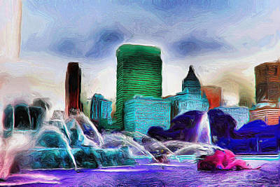 Painting - Buckingham Fountain - 20 by Ely Arsha