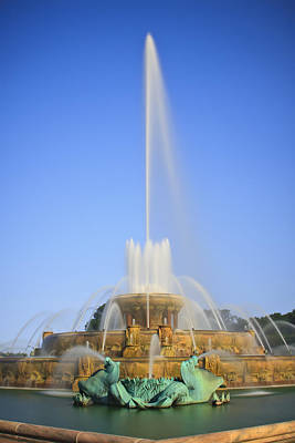 Photograph - Buckingham Fountain by Adam Romanowicz